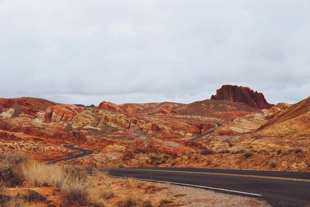 Winding Desert Road - Valley Of Fire.jpg