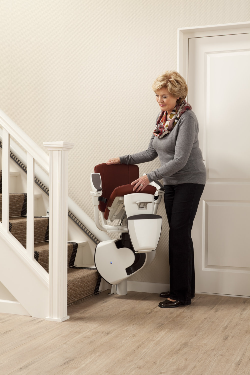 Flow 2 stairlift linked seat and footrest