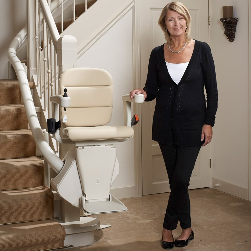 Handicare Rembrandt Curved Stairlift on Inside Bend