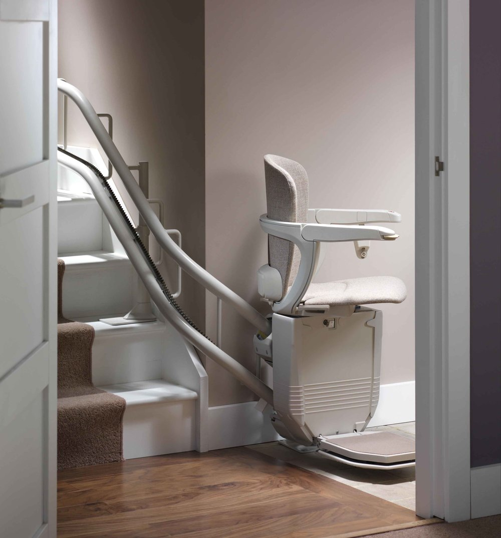 stannah Starla 260 Curved Stairlift Downfacing Swivel Seat
