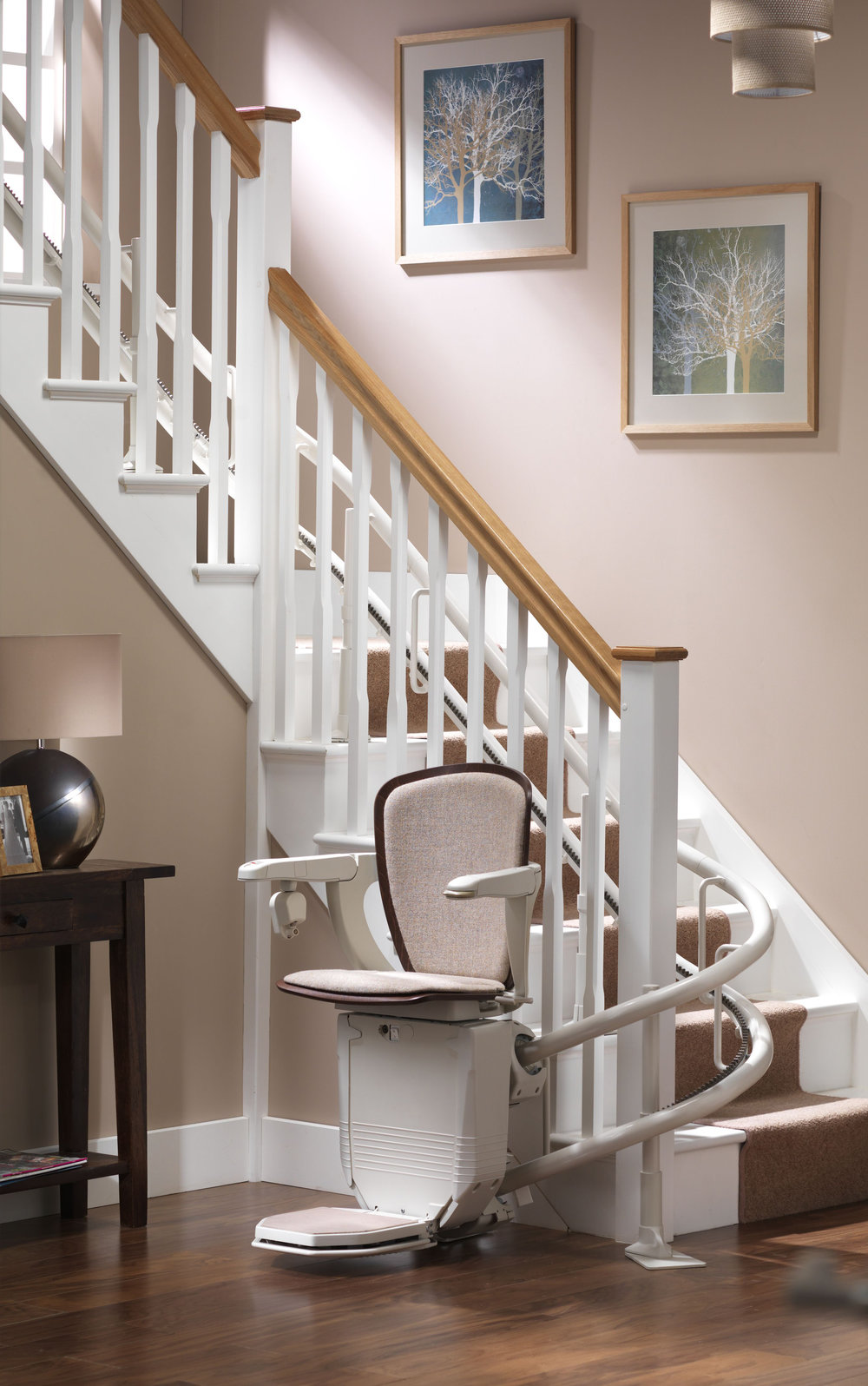 Stannah Starla Stairlift Seat with Wood Trim