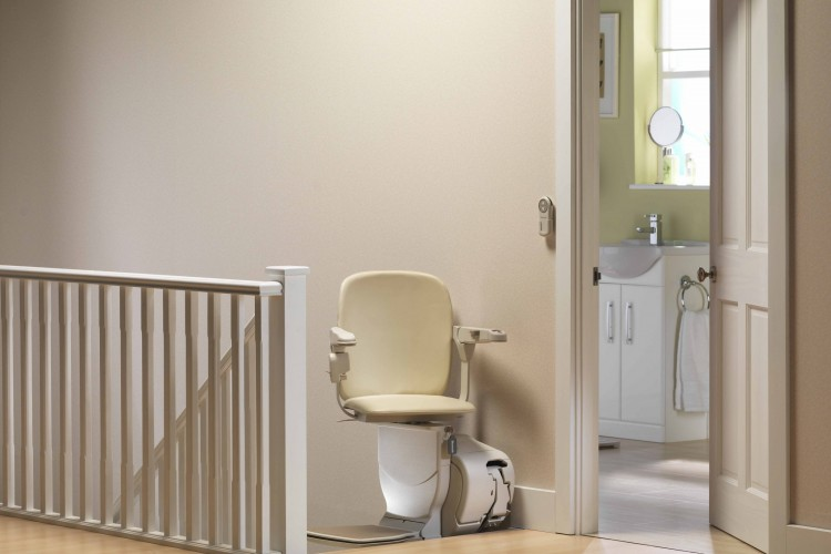 stannah 600 siena stairlift Seat Swivelled Upstairs