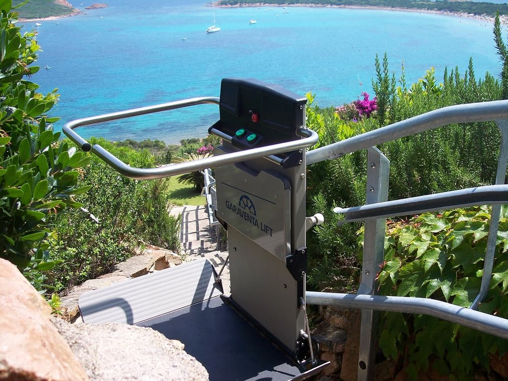 External Inclined Wheelchair platform lift