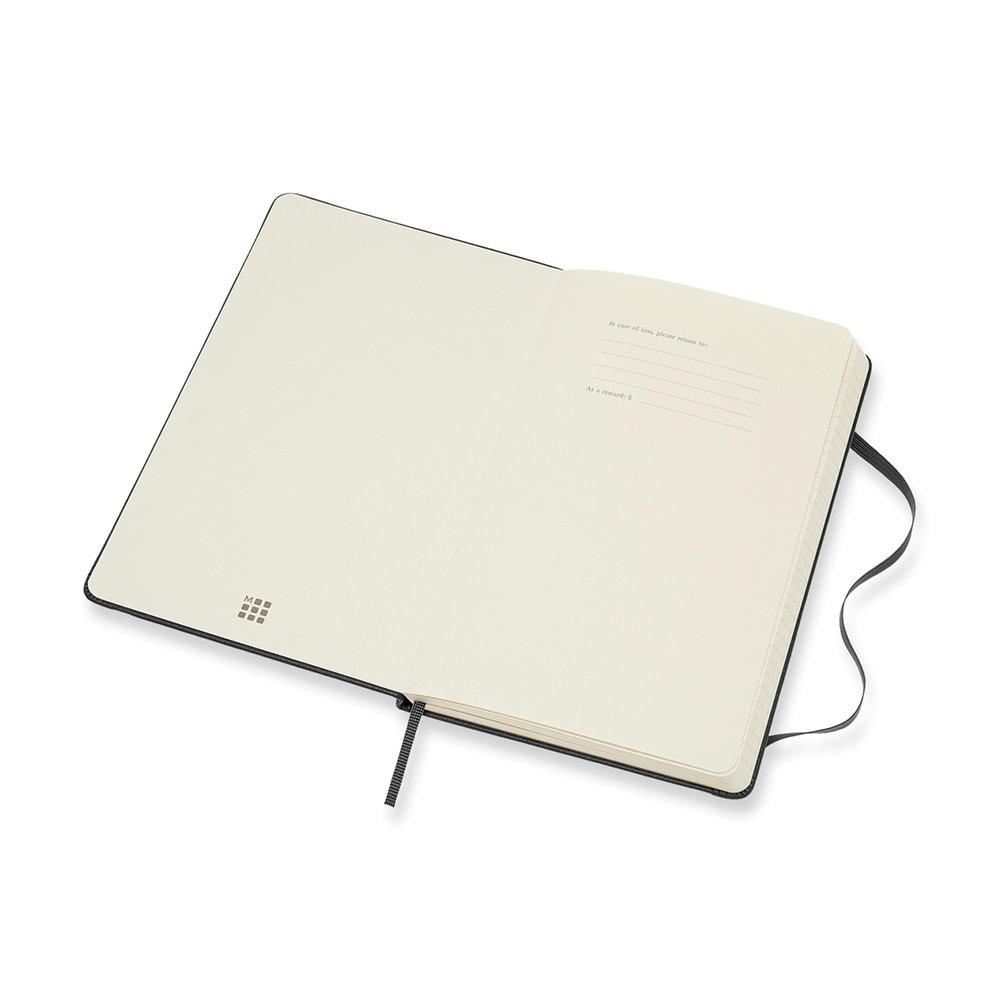 Moleskine® Leather Ruled Large Notebook