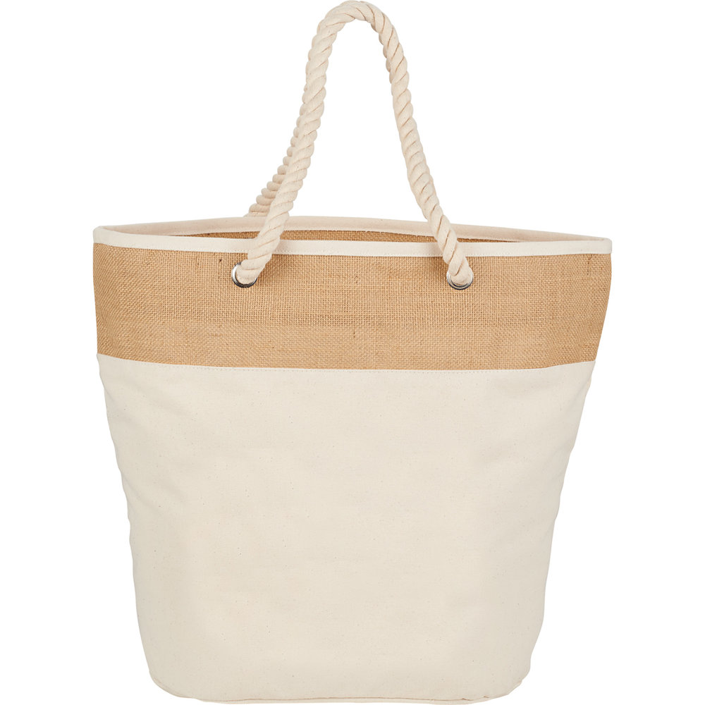 Jute Cotton Canvas Rope Tote