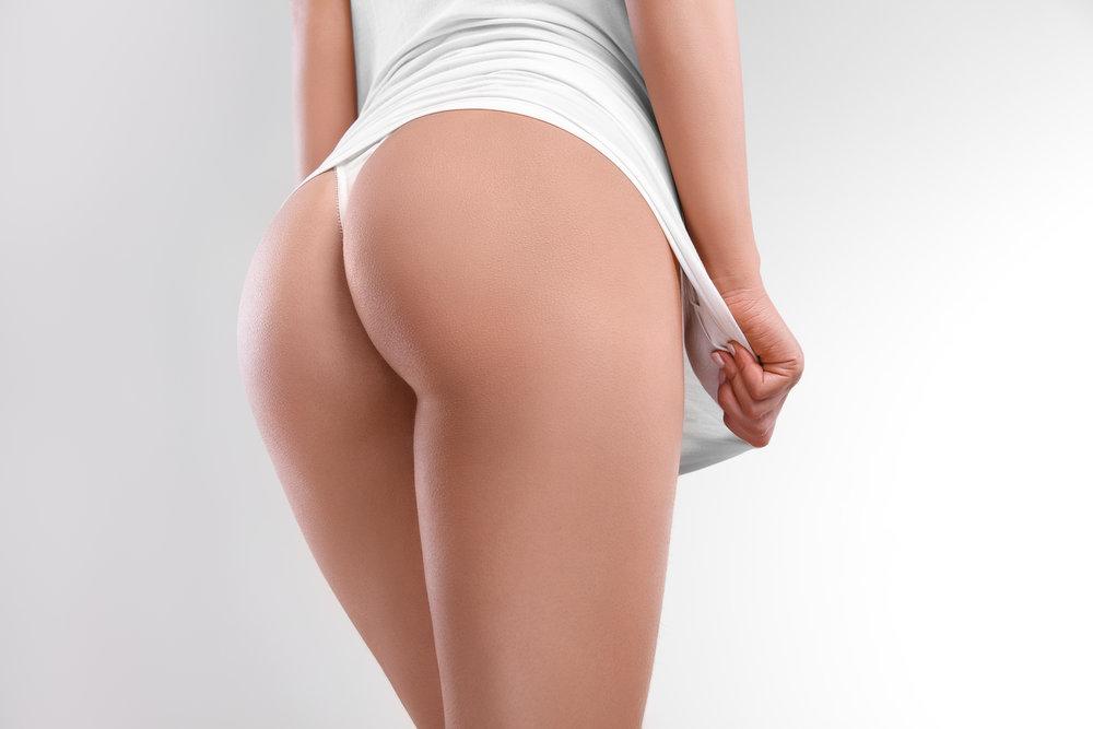 Glúteos - este procedimiento da firmeza y definición a la zona, y se obtienen glúteos redondeados.