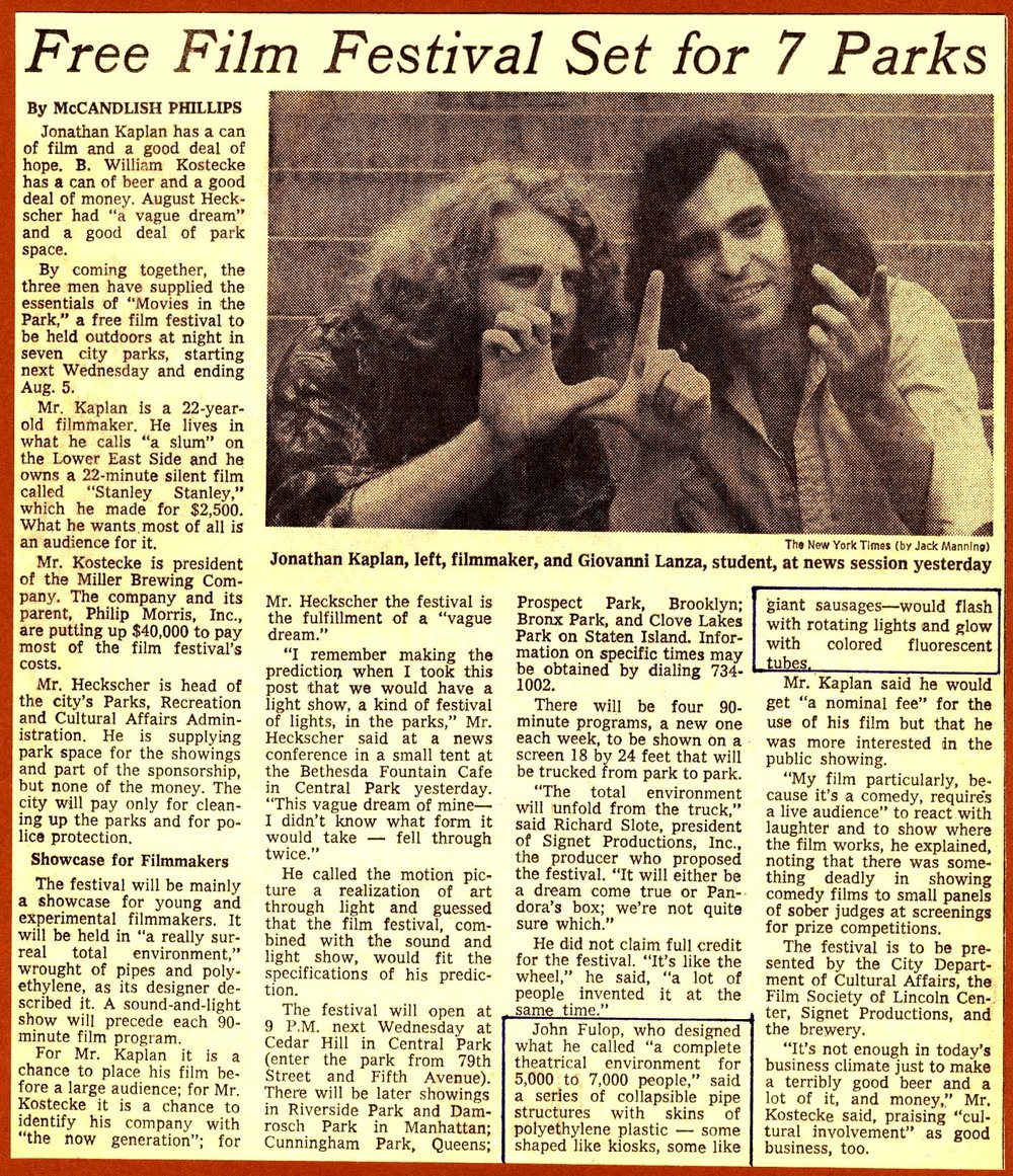 New York Times Article - July 8, 1970