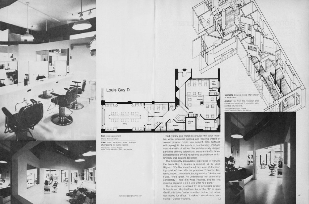 Interior Design Magazine - April 1974