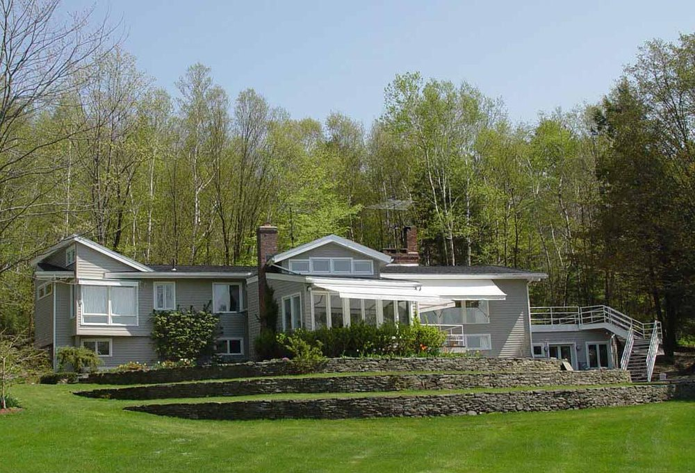 HILLSIDE RESIDENCE, WEST STOCKBRIDGE, MA   Alterations and additions were designed for an existing ranch style modular house on a mountainside with a Western view of the valley that connects West Stockbridge to Richmond in the Berkshires.