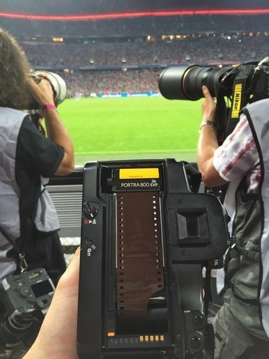 / JULY 2016 /   Raising eyebrows when these photographers saw me reloading film! In Germany on a two part behind-the-scenes story about Bayern Munich Football Club. Will be back at the end of August.