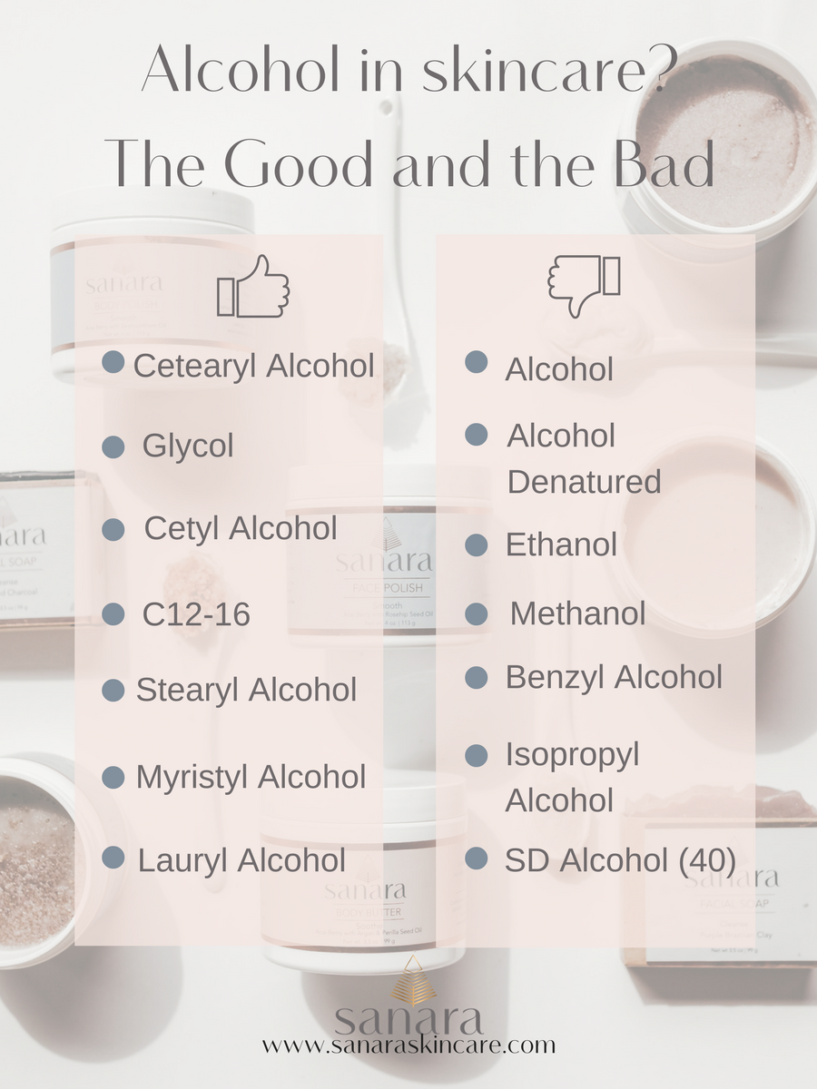 Alcohol in skincare? The good and the bad  — Sanara