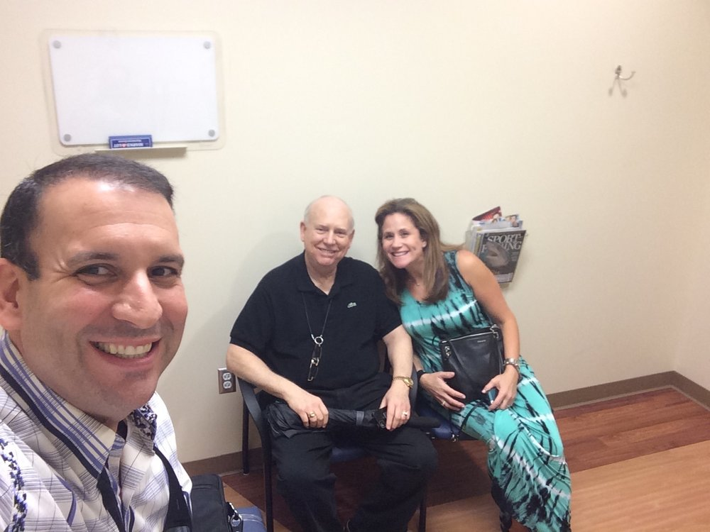 My wife Ronni, and my father went with me to see Dr. Ho, my ENT, to learn more about my cancer diagnosis. It was comforting to have them with me. It was surreal to think I had cancer. Totally shocking, as I felt totally healthy, with no symptoms but a bump on my neck.
