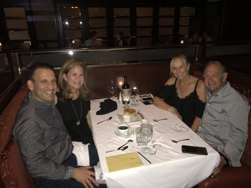 Ruth's Chris in Winter Park, FL. Celebrating my 3 year anniversary with some of our closest friend's Rich & Gayle Reis.