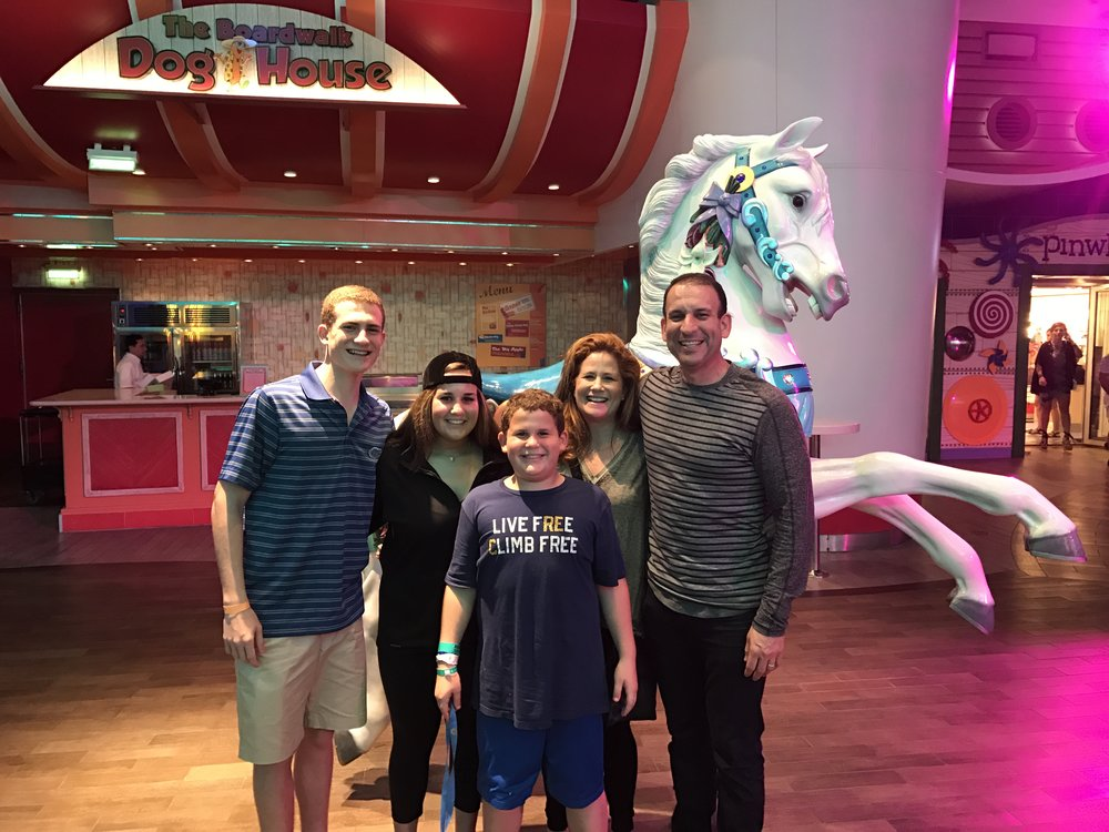 Royal Caribbean's Oasis out of Port Canaveral. Family cruise over winter break 2016. Great family time.