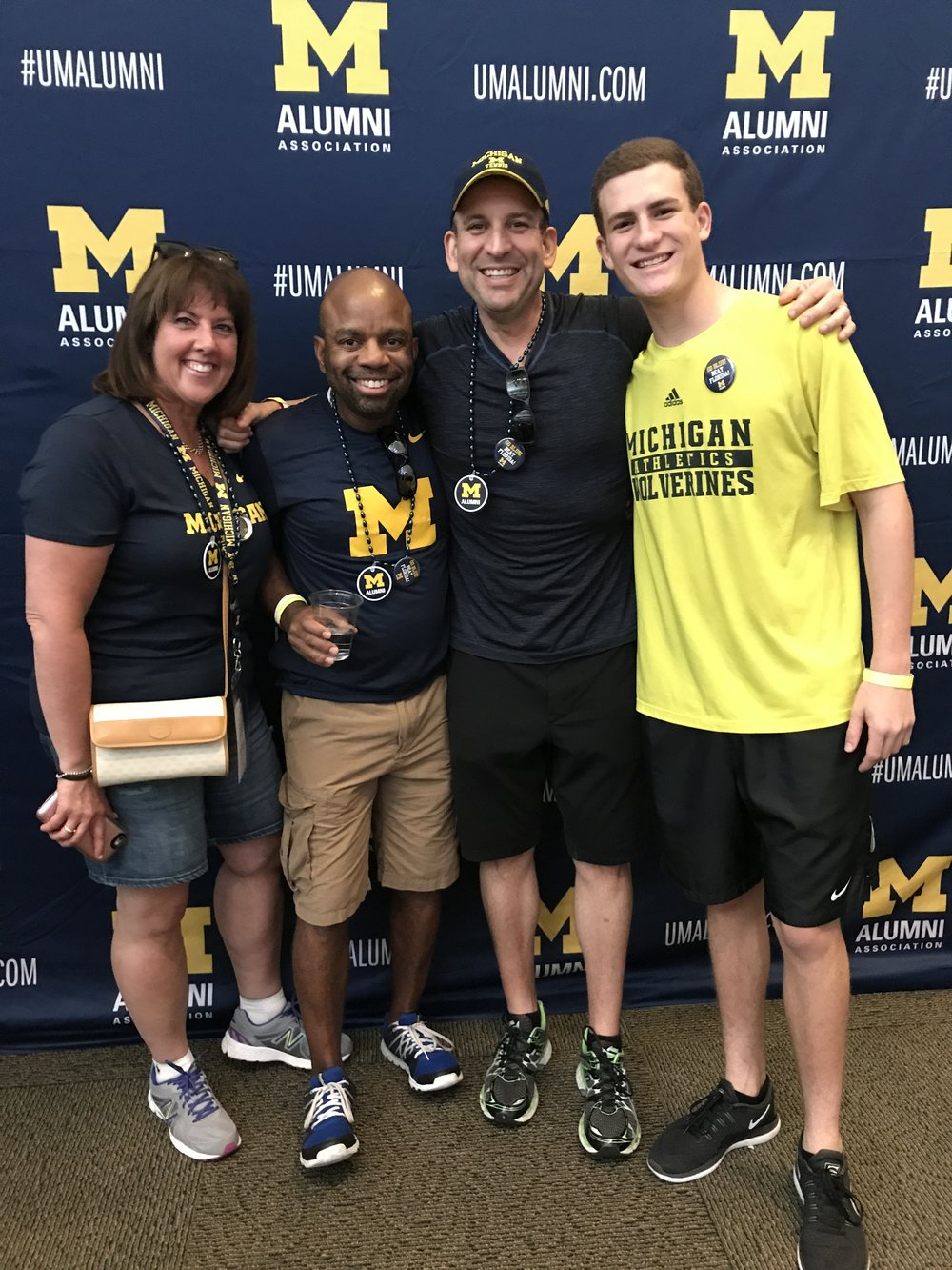 Go Blue! Awesome time with new friends! This is the start of a survivor network that will span the globe.