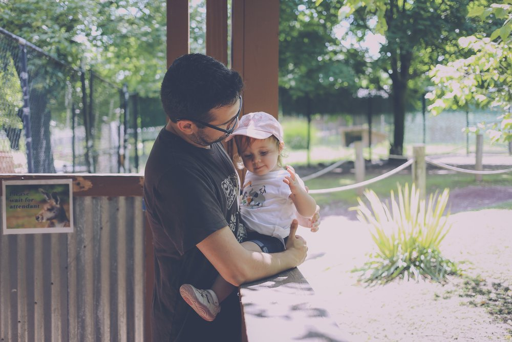 Father and daughter, Lehigh Valley Zoo, Schnecksville, PA, Documentary Family Photography