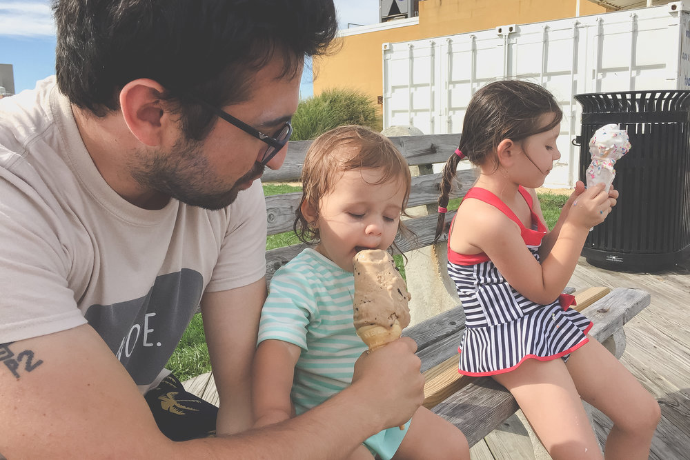 Eating ice cream on the boardwalk in Asbury Park, NJ | Staten Island Family Photography