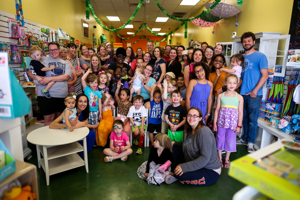 The entire tribe inside the Allentown store at Ju-Ju Monkey's 8th Anniversary.