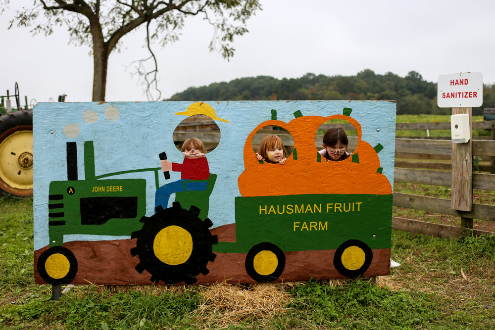 Visiting Hausman's Fruit Farm in Coopersburg, PA.