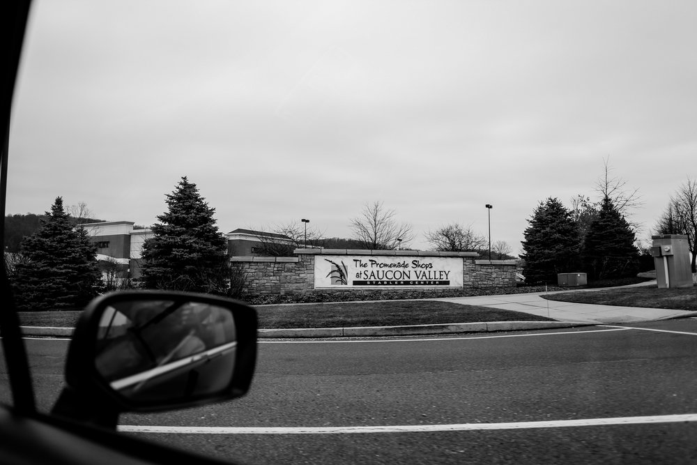 Entering the Promenade Shops at Saucon Valley in Center Valley, PA.