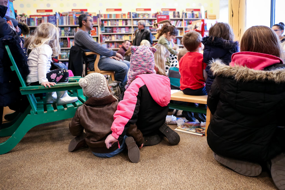 Story time at Barnes and Noble at The Shops at Saucon Valley in Center Valley, Pennsylvania.