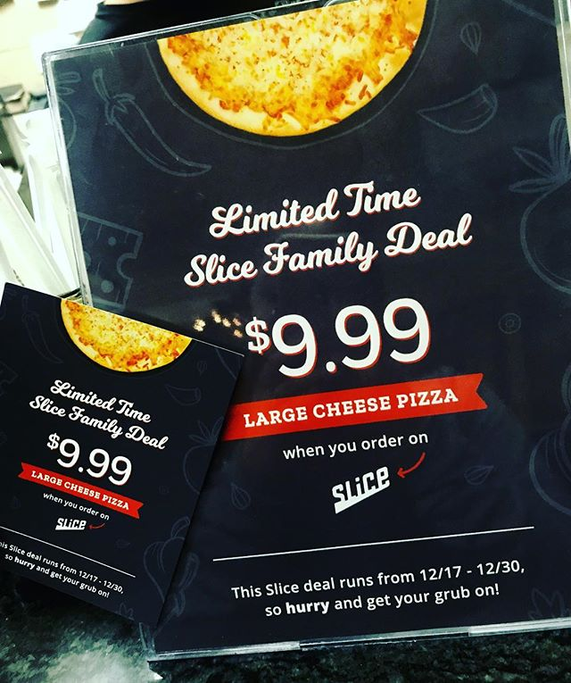 LIMITED TIME SLICE DEAL🍕(when you order on slice only) #slice #slicepizza #pizza #joeandpats #joeandpatspizza