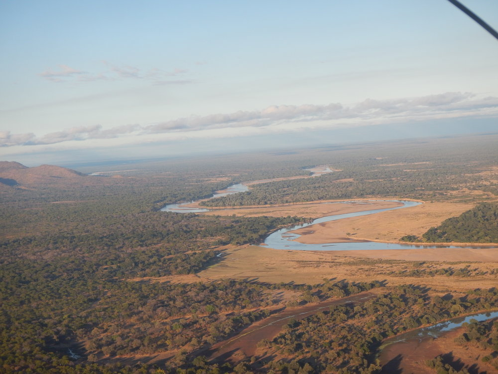 The Luangwa river in the dry season. Zambia is characterized by dryland ecosystems with severe variability in rainfall and water availability, making connectivity and protection of land and watersheds critical—particularly in the face of climate change