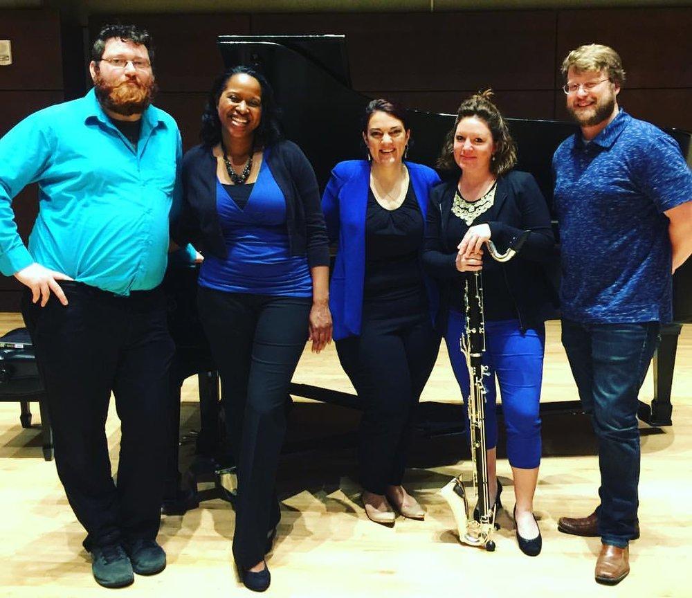 Meraki and Duo Rodinia collaboration, with composer Dan McPherson  Oklahoma City University, April 2017