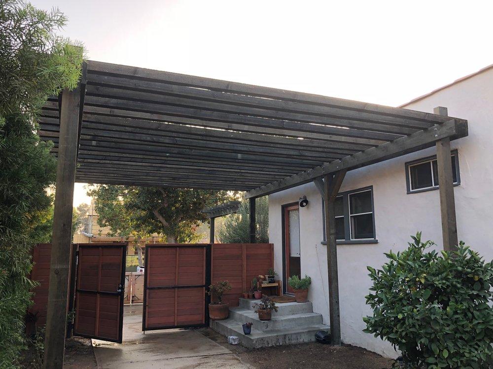 Pergola Driveway Gate Los Angeles Fence Builders.JPEG