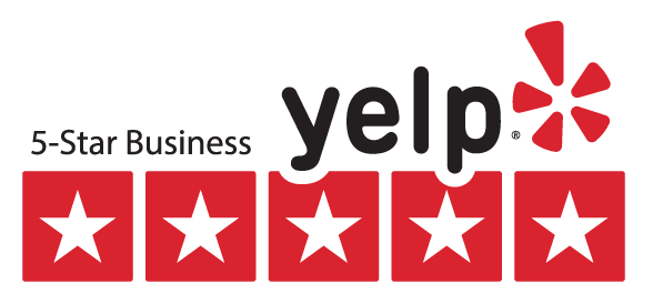 5 Star Review Rating on Yelp!