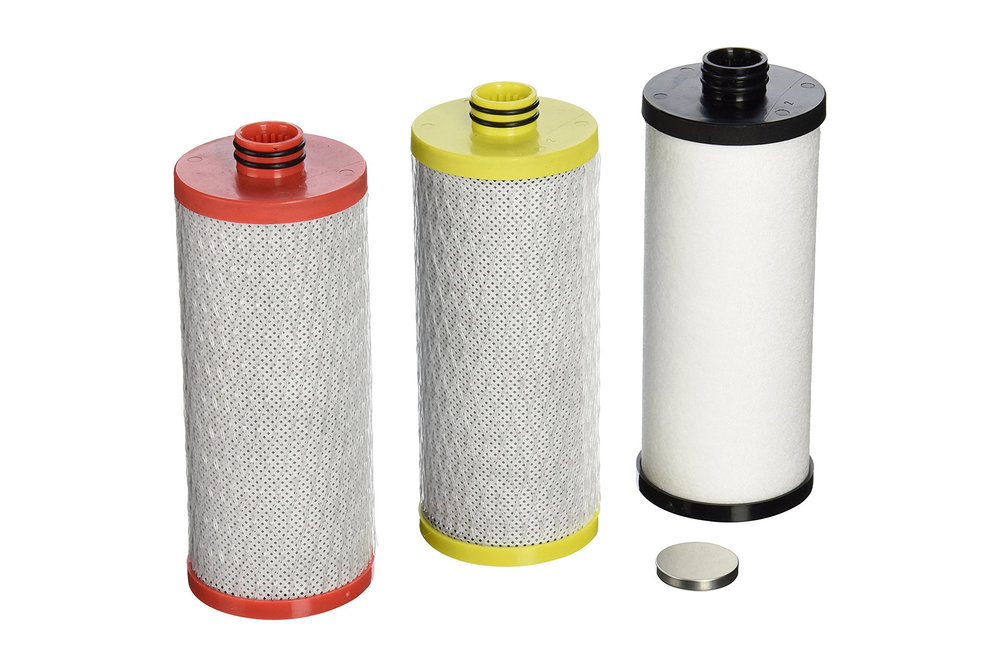 - Aquasana AQ-5300R Replacement Filter - $64.99 ($55.24 with subscribe) >Each filter provides up to 600 gallons of filtered water> Average consumption of 1200 gallons of water per year equals $129.98$/year ($110.48/year with subscribe) of replacement filter costs