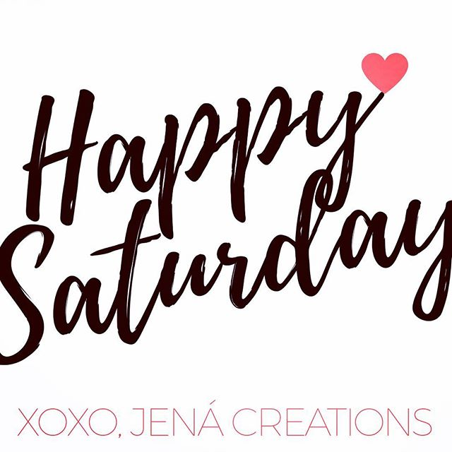 We 💗 Saturdays! #happysaturday #summer #longweekend #enjoylife #love #laugh #smile #hairbeautylife #jenacreations #hair #wigs #girlbos #smallbiz #womeninbiz #igdaily