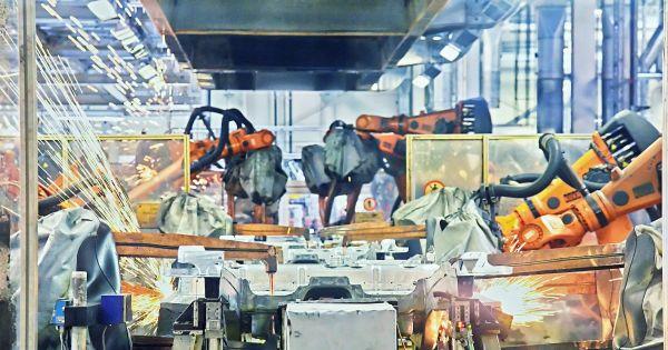 UBI with manufacturing robotic usage