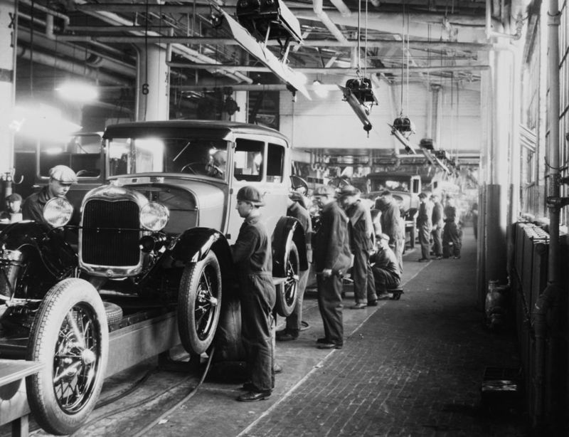 Henry Ford famously automated large parts of the car production process