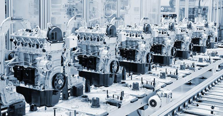 automated factory line in manufacturing