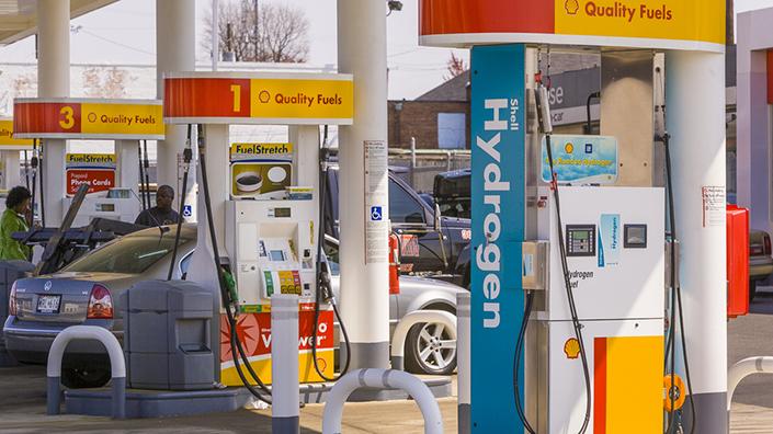 Shell Hydrogen Gas Fuel Pump