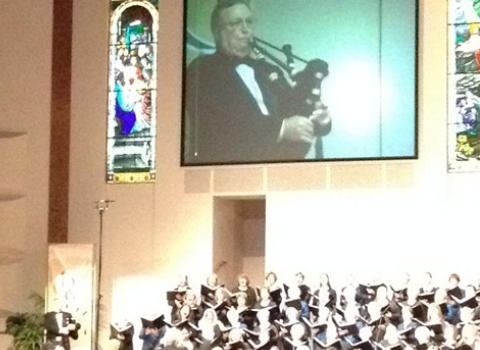 Wayne solo with Mack Wilberg Mormon Tabernacle conductor.JPG