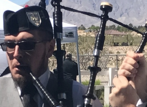 Will Thayer, bagpiper for hire