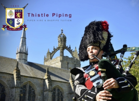 Julie Brinklow, bagpiper for hire