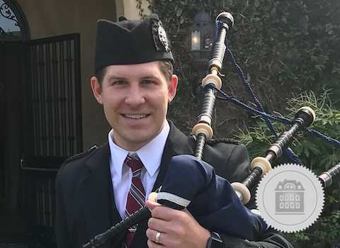 Jonas Pauliukonis, California bagpiper for hire