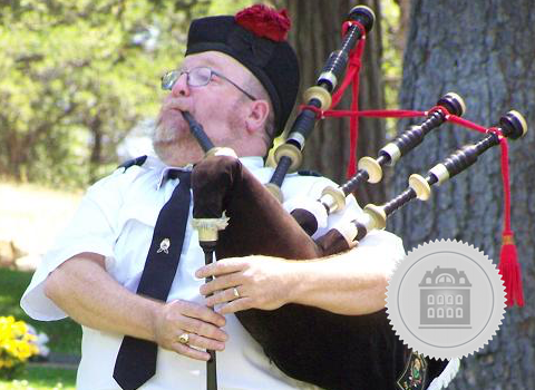 Mark Little, Central Valley bagpiper for hire