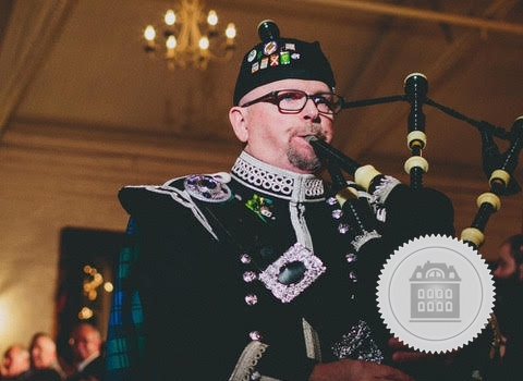 Rufus Campbell, bagpiper for hire