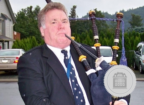 Robert Stewart, bagpiper for hire