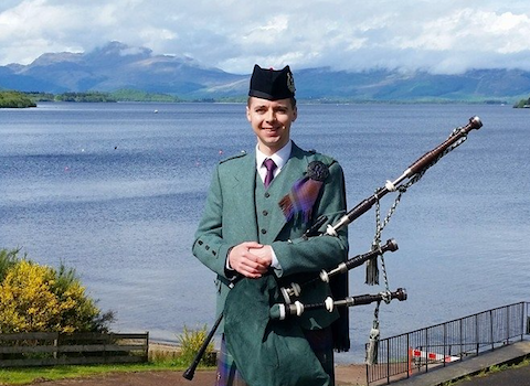 Greg Harley, bagpiper for hire