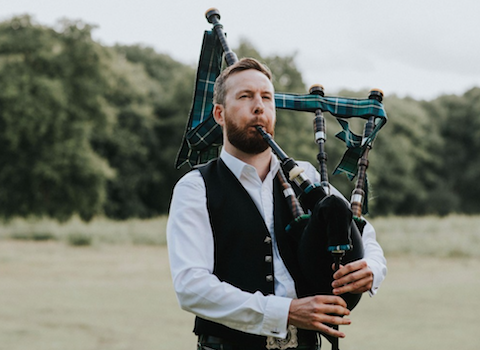 Matthew McRae, bagpiper for hire