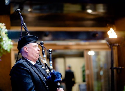 George Taylor, bagpiper for hire
