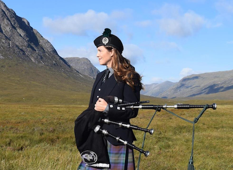 Tress Maksimuk, bagpiper for hire