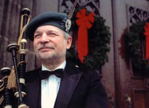 George Balderose, bagpiper for hire