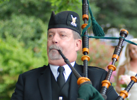 John Boyden, bagpiper for hire