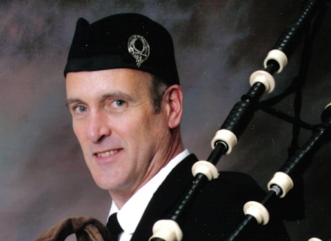 Joe Sommers, bagpiper for hire